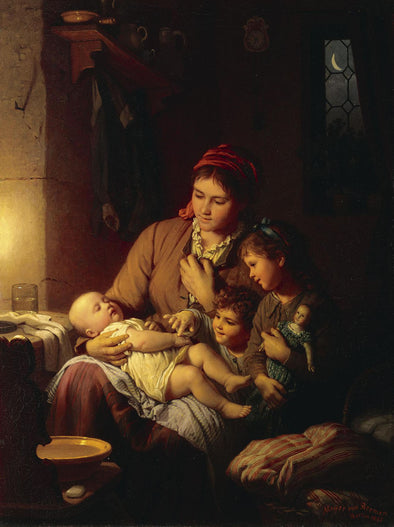 Johann Georg Meyer von Bremen - Little Brother Sleeps