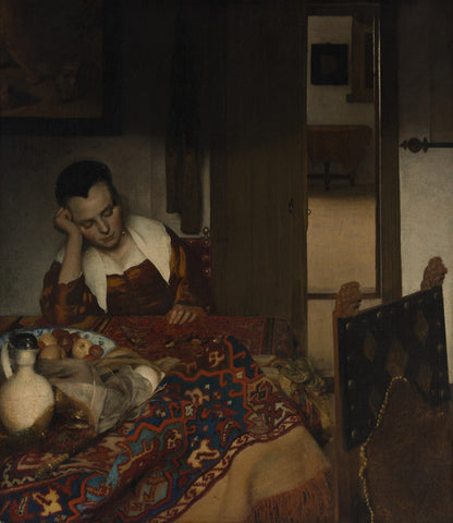 Johannes Vermeer - A Maid Sleep
