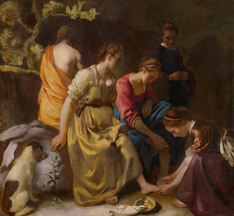 Johannes Vermeer - Diana and her companions or Diana and Her Nymphs