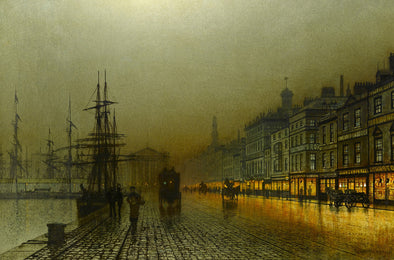 John Atkinson Grimshaw - Greenock Harbour at Night