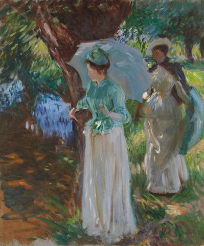 John Singer Sargent - Two Girls with Parasols