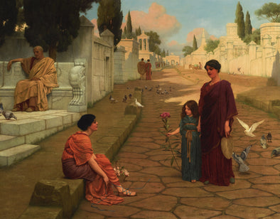 John William Godward - Outside The Gate Of Pompeii
