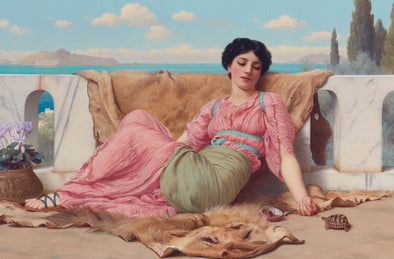 John William Godward - The Quiet Pet