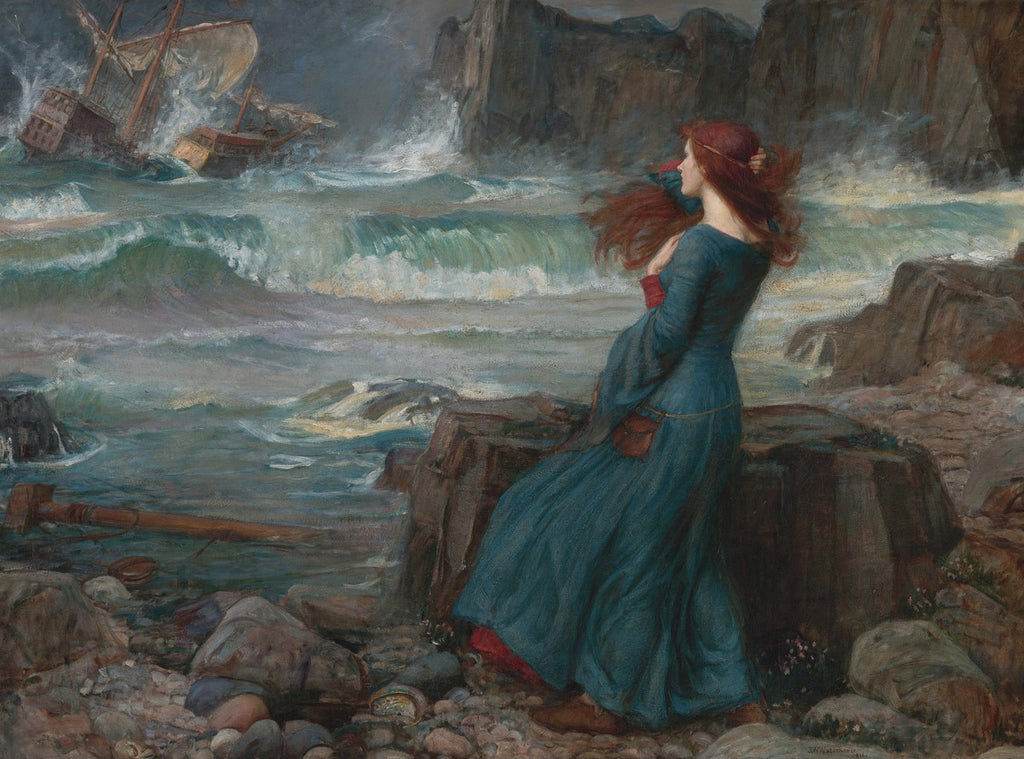 John William Waterhouse - Miranda observing the wreck of the King's ship
