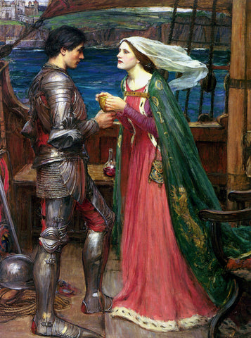 John William Waterhouse - Tristan and Isolde with the Potion