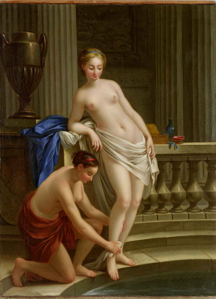 Joseph-Marie Vien - Callisto, Diane nymph out of the Bath