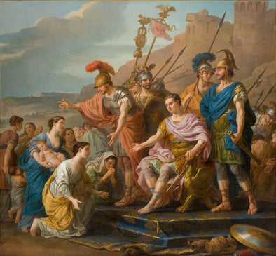 Joseph-Marie Vien - Coriolans Family Imploring him not to Besiege Rome