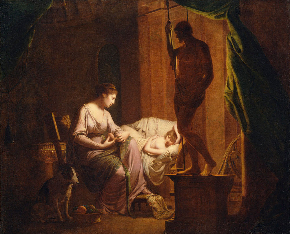 Joseph Wright of Derby - Penelope Unraveling Her Web