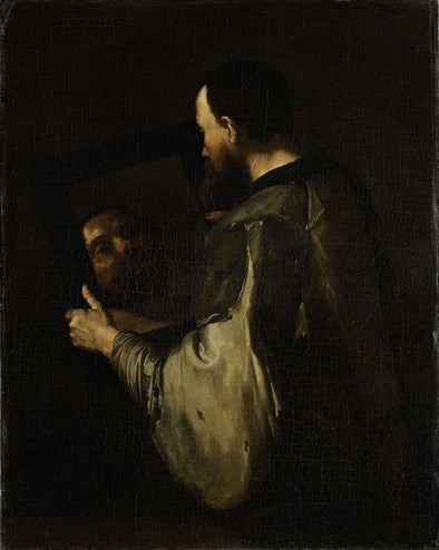 Jusepe de Ribera - Philosopher with mirror