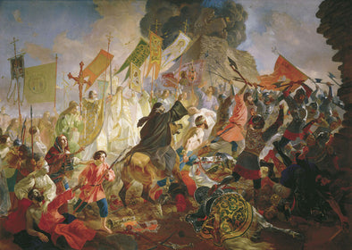 Karl Bryullov - Siege of Pskov by Polish King Stefan Batory