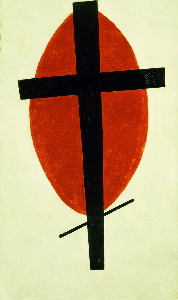 Kazimir Malevich - Mystic Suprematism Black Cross and Red Oval