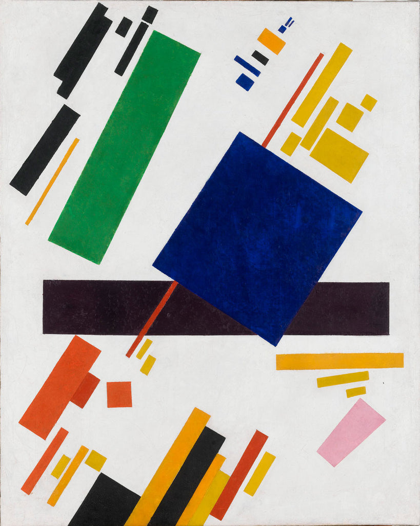Kazimir Malevich - Suprematist Composition (blue rectangle over the red beam)