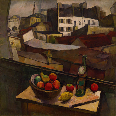 Diego Rivera - Knife and Fruit in Front of the Window