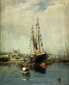 Konstantinos Volanakis - Departure from Piraeus to Tinos