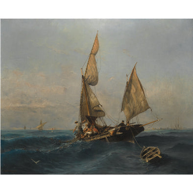Konstantinos Volanakis - Fishing Boat in Choppy Waters