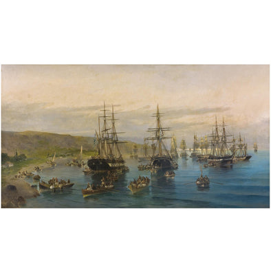 Konstantinos Volanakis - The Arrival of Karaiskakis at Faliro