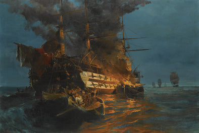 Konstantinos Volanakis - The Burning of Turkish Frigate
