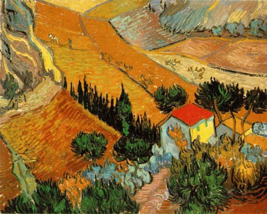 Vincent van Gogh - Landscape with House and Ploughman