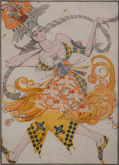 Léon Bakst - Costume design for the ballet The Firebird
