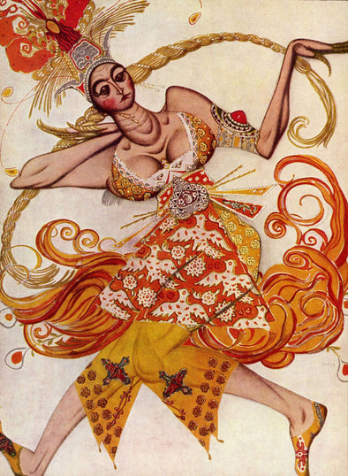 Léon Bakst - The Firebird, Ballet costume