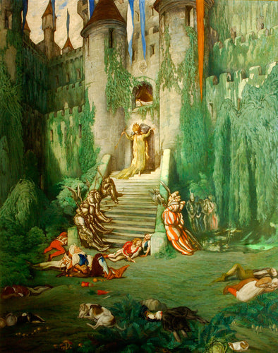 Léon Bakst - The Sleeping Beauty, The Princess and the Court Fall Asleep for a Hundred Years