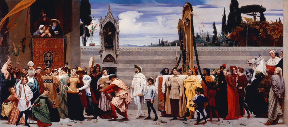 Lord Frederick Leighton - Cimabue's Madonna Carried in Procession