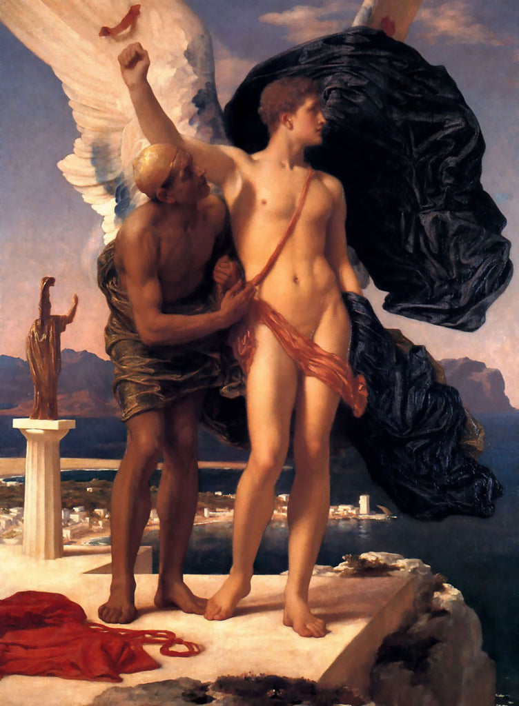 Lord Frederick Leighton - Icarus and Daedalus