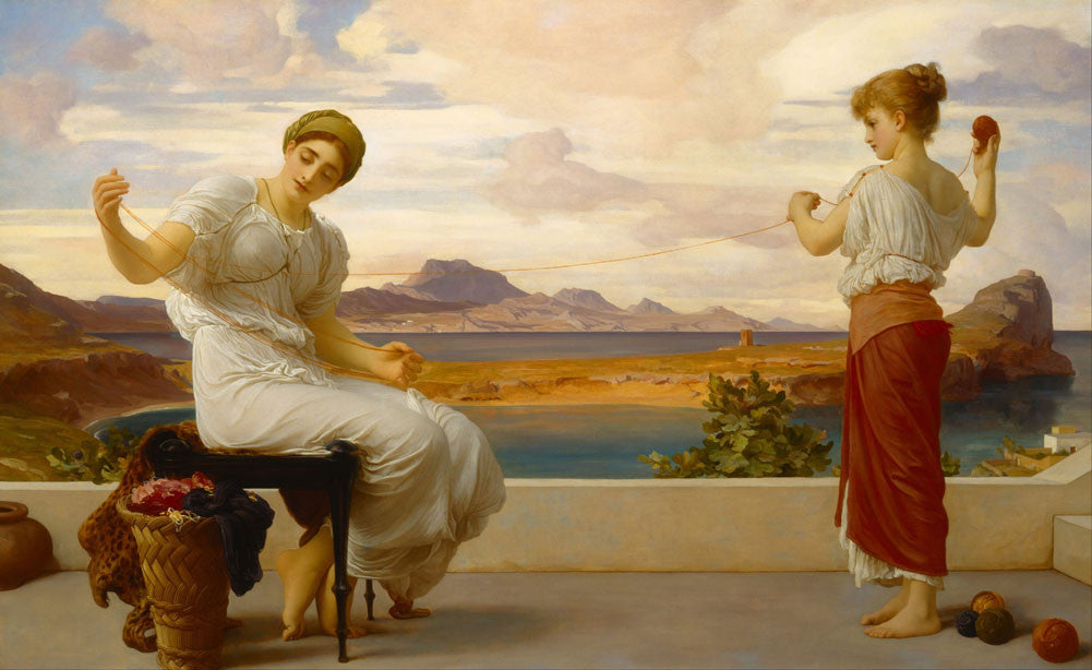 Lord Frederick Leighton - Winding the Skein