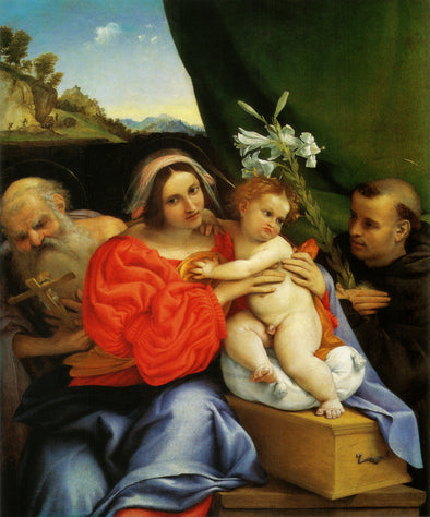 Lorenzo Lotto - Madonna with St. Jerome and St. Anthony of Padua