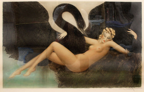 Louis Icart - Leda and the Swan