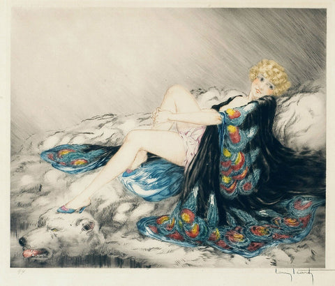 Louis Icart - Silk Robe