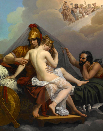 Louis Jean Francois Lagrenee - Mars and Venus Surprised by Vulcan