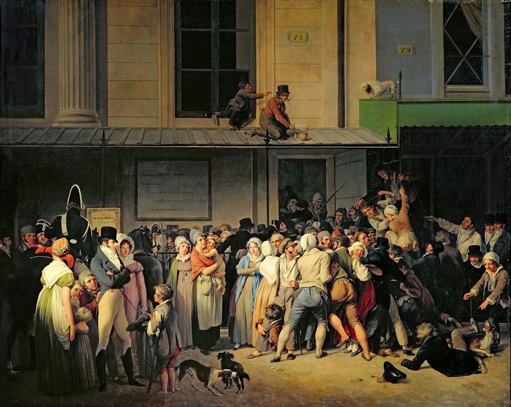 Louis-Leopold Boilly - The Entrance to the Theatre, De L Ambigu-Comique
