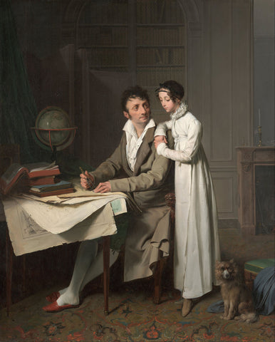 Louis-Leopold Boilly - The Geography Lesson (Portrait Of Monsieur Gaudry And His Daughter)