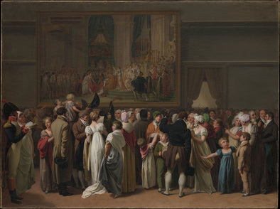 Louis-Leopold Boilly - The Public Viewing Davids Coronation at the Louvre