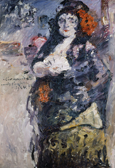 Lovis Corinth - Carmencita, Portrait of Charlotte Berend Corinth in Spanish Dress