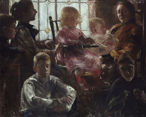 Lovis Corinth - The Family of the Painter Fritz Rumpf