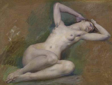 Luc-Olivier Merson - Study for the figure of Spring