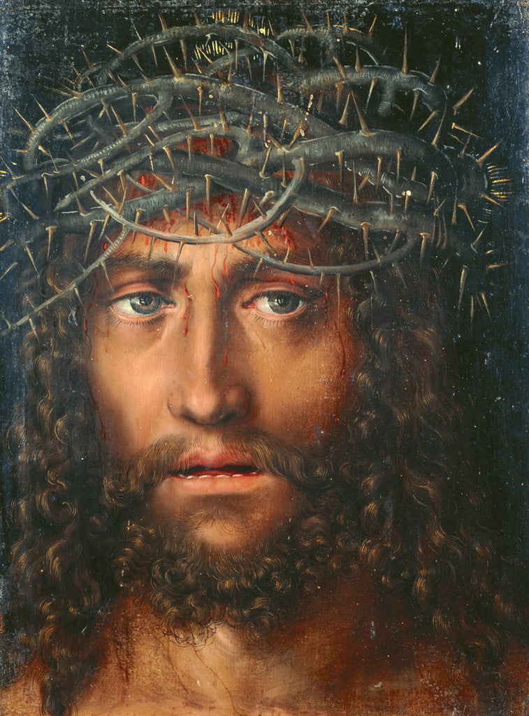 Lucas Cranach the Elder - Head of Christ Crowned with Thorns