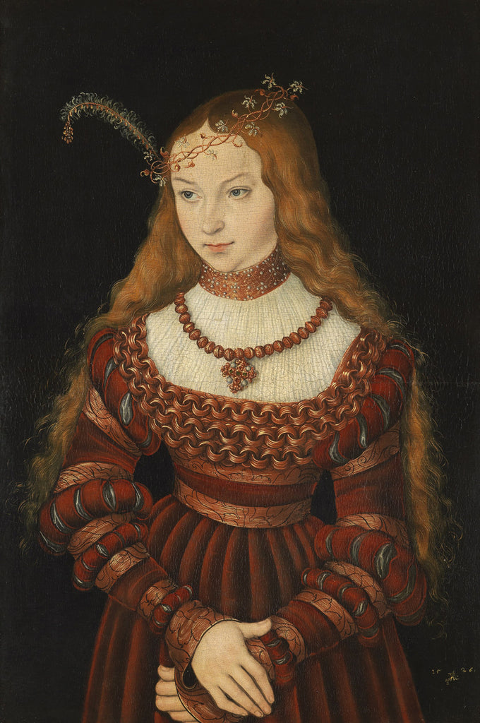 Lucas Cranach the Elder - Portrait of Princess Sibylle of Cleve