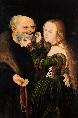 Lucas Cranach the Elder - The Unequal Couple (Old Man in Love)