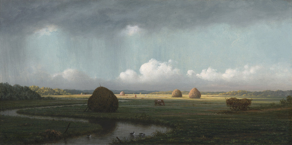 Martin Johnson Heade - Sudden Shower Newbury Marshes