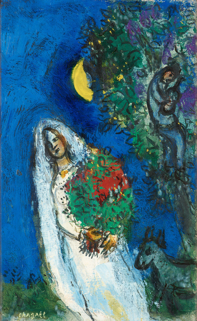Marc Chagall - A Mariee a La Lune
