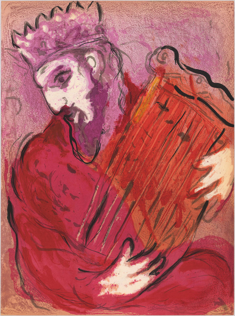 Marc Chagall - David with the Harp