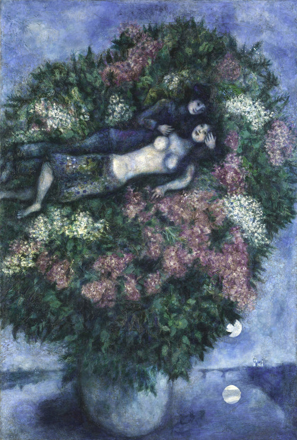 Marc Chagall - Lovers Among the Lilacs