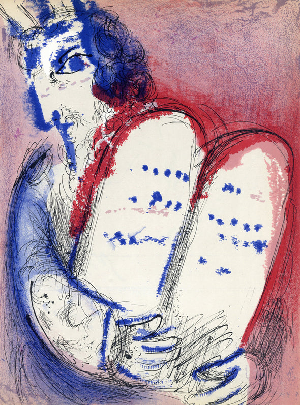 Marc Chagall - Moses with the Tablets of Law
