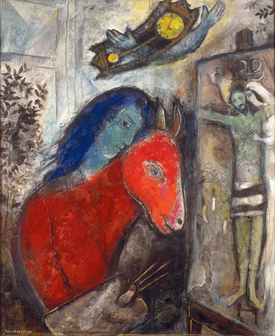 Marc Chagall - Self Portrait with Clock