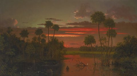 Martin Johnson Heade - The Great Florida Sunset