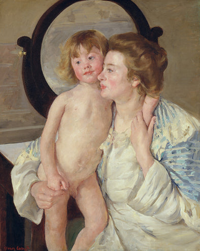 Mary Cassatt - Mother and Child (The Oval Mirror)