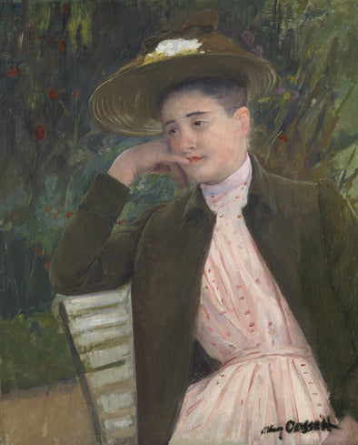 Mary Cassatt - Young Girl with a Brown Hat